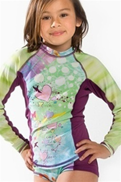 Long Sleeve Kids' Rashguard from Girls4Sport