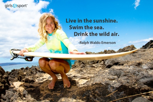 Live in the sunshine. Swim the sea. Drink the wild air. -Ralph Waldo Emerson
