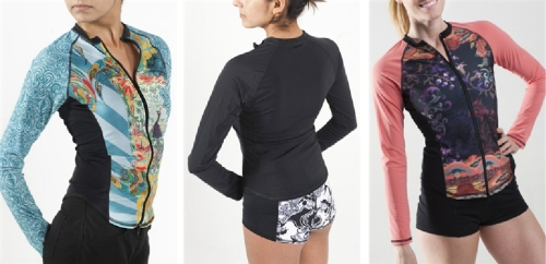 rash guard long sleeve full zip