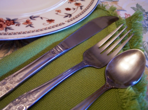dinner fork knife spoon