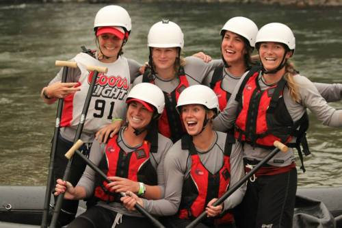 white water rafting women